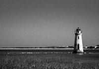 Cockspur Lighthouse in Black and white II